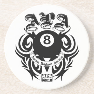 APA 8 Ball Gothic Design Coaster