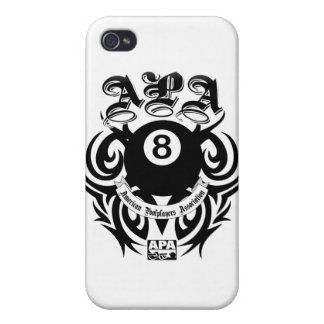 APA 8 Ball Gothic Design iPhone 4 Cases
