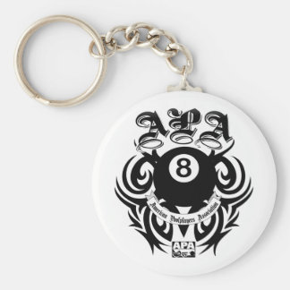 APA 8 Ball Gothic Design Key Ring