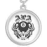 APA 8 Ball Gothic Design Necklace