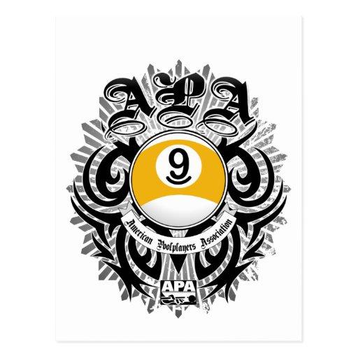 APA 9 Ball Gothic Design