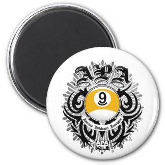 APA 9 Ball Gothic Design 6 Cm Round Magnet