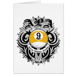 APA 9 Ball Gothic Design Card