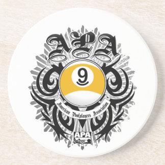 APA 9 Ball Gothic Design Coaster