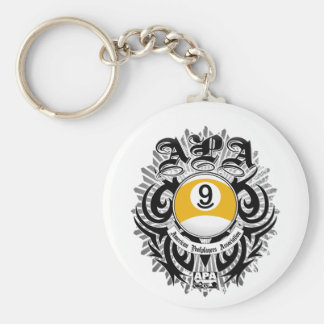 APA 9 Ball Gothic Design Key Ring
