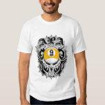 APA 9 Ball Gothic Design T-shirts