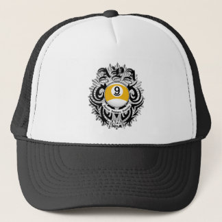 APA 9 Ball Gothic Design Trucker Hat