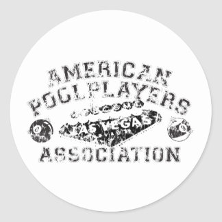 APA Distressed Design Classic Round Sticker
