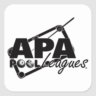 APA Leagues Square Sticker