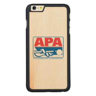 APA Logo Carved Maple iPhone 6 Plus Case