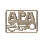 APA Logo - Tan Embroidered Polo Shirt