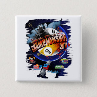 APA National Singles Championships 15 Cm Square Badge