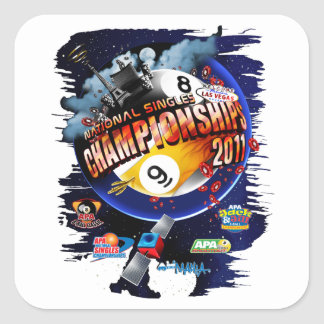 APA National Singles Championships Square Sticker