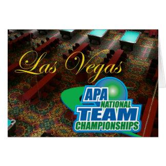 APA National Team Championships Card