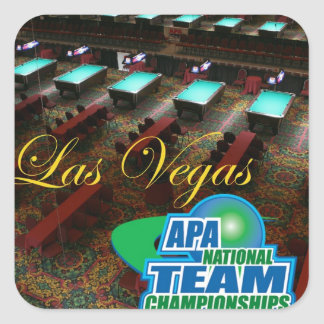 APA National Team Championships Square Sticker