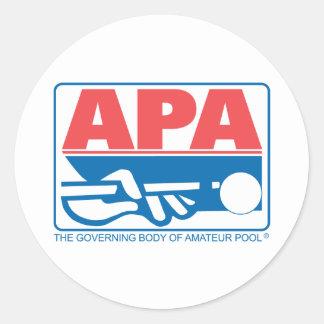 APA Original Logo Classic Round Sticker