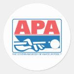 APA Original Logo Round Sticker