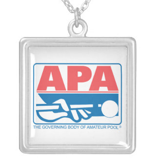APA Original Logo Silver Plated Necklace