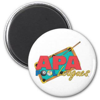 APA Pool Leagues 6 Cm Round Magnet
