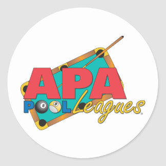 APA Pool Leagues Classic Round Sticker