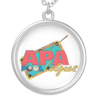 APA Pool Leagues Silver Plated Necklace