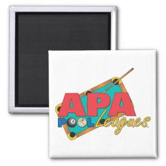 APA Pool Leagues Square Magnet