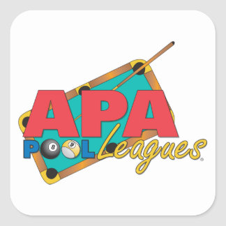 APA Pool Leagues Square Sticker