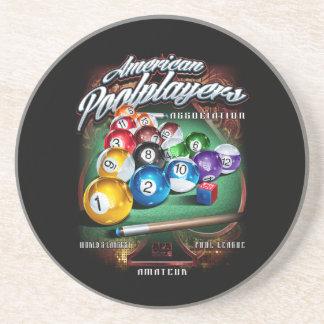 APA Pool Rack Drink Coasters
