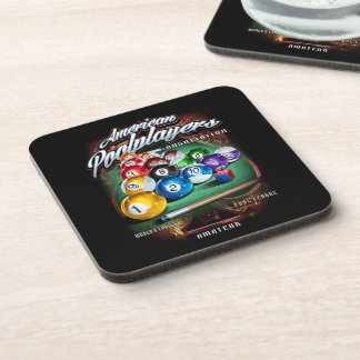 APA Pool Rack Coaster