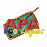 APA PoolLeagues Logo Embroidered Track Jacket