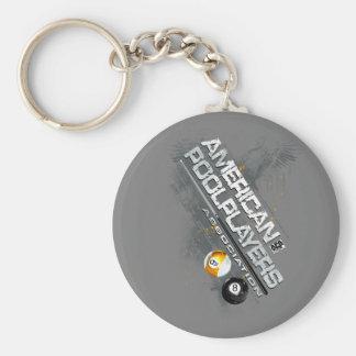 APA Slanted Design Basic Round Button Key Ring