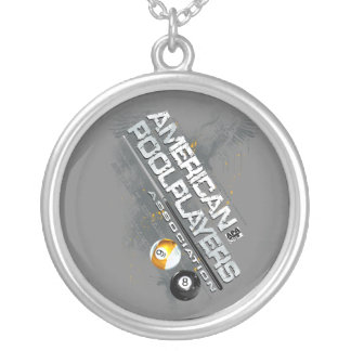 APA Slanted Design Silver Plated Necklace