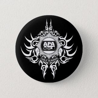 APA Table Runner Black and White 6 Cm Round Badge