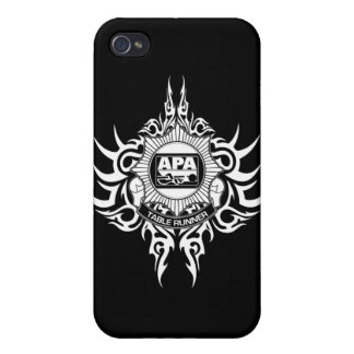 APA Table Runner Black and White Cases For iPhone 4