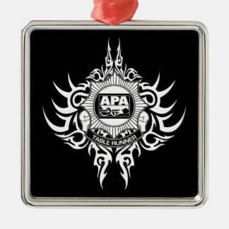 APA Table Runner Black and White Christmas Ornament
