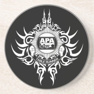 APA Table Runner Black and White Coaster