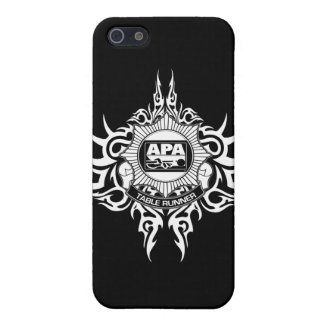 APA Table Runner Black and White Cover For iPhone 5/5S