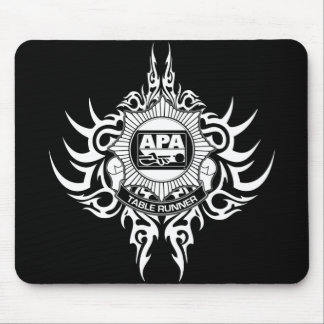APA Table Runner Black and White Mouse Mat