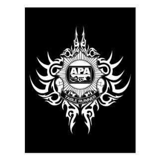 APA Table Runner Black and White Postcard