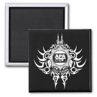 APA Table Runner Black and White Square Magnet