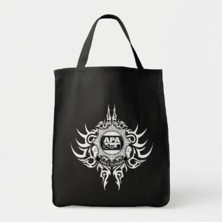 APA Table Runner Black and White Tote Bag