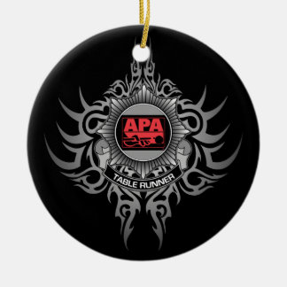 APA Table Runner Red Christmas Ornament