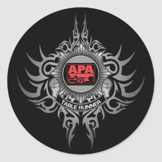 APA Table Runner Red Classic Round Sticker