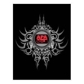 APA Table Runner Red Postcard