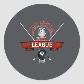 APA Team Captain Classic Round Sticker