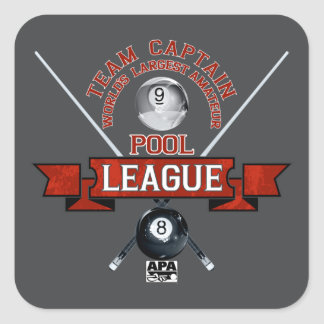 APA Team Captain Square Sticker