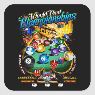 APA World Pool Championships 2017 Square Sticker