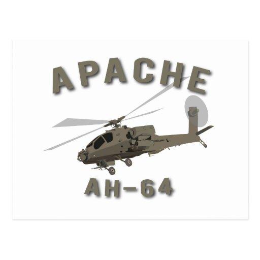 Apache AH-64 Postcard