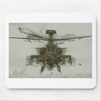 Apache Attack Helicopter Mouse Pad