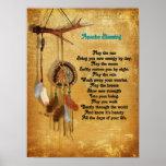 Apache Blessing dreamcatcher poster